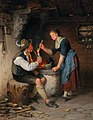 Rudolf Epp - Young Couple by the Fireplace.jpg