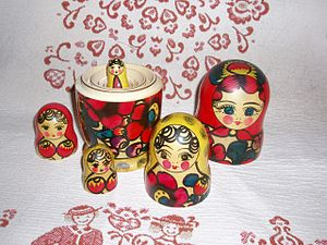 Russian Soviet Federative Socialist Republic - Matryoshka doll taken apart