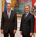 Russlands Außenminister Lawrow bei Bundeskanzler Faymann (3693305531).jpg