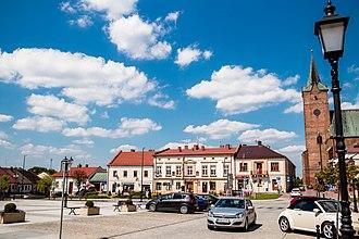 Pilzno - Market Square in Pilzno