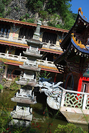 Ipoh - Sam Poh Tong, one of the many beautiful temples in Ipoh