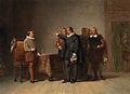 SA 5131-Anno 1585. Oldenbarnevelt brengt met enkele Statenleden Maurits het bericht van zijn aanstelling tot stadhouder.jpg