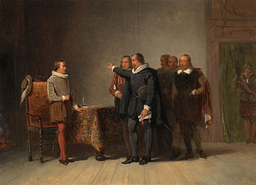 SA 5131-Anno 1585. Oldenbarnevelt brengt met enkele Statenleden Maurits het bericht van zijn aanstelling tot stadhouder