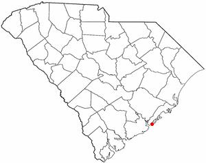 Isle of Palms, South Carolina - Image: SC Map doton Isle Of Palms