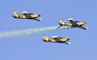 SIAI-Marchetti SF.260 - A formation of three Libyan SF260 Marchettis in flight, 2009