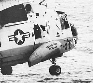 HSC-4 - The famous Helicopter 66 of HS-4 during the Apollo 13 recovery.