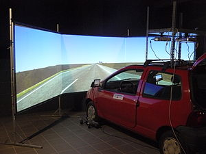 Driving simulator - SIMUVEG. Driving Simulator developed by (University of Valencia) Spain. Used in evaluation of drivers, roads, IVIS devices and other areas.
