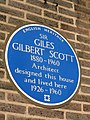 SIR GILES GILBERT SCOTT 1880-1960 Architect designed this house and lived here 1926-1960.jpg