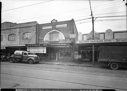 Botany Road, Mascot in July 1951 SLNSW 14089 1151 Botany Rd Mascot taken for LJ Hooker Ltd.jpg