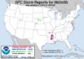 SPC Storm Reports 20050924.png