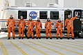 STS-125 Crew Members Head for Launch Pad 39A (28136831522).jpg