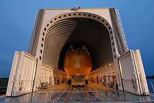 STS-125 external tank offloading from barge.jpg