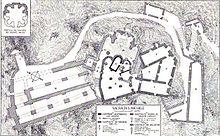 Pianta del complesso della sacra di San Michele (da un disegno di Alfredo d'Andrade)