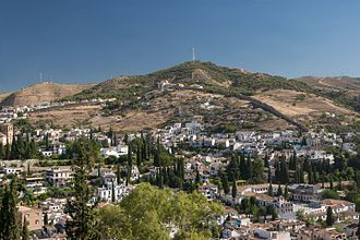 Sacromonte - View of the Sacromonte from the Alhambra