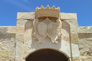 Saint Anthony's Battery - The replica coats of arms