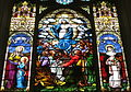 Saint Mary Catholic Church (Dayton, Ohio) - stained glass, Assumption with St. Anne & St. Rose.JPG