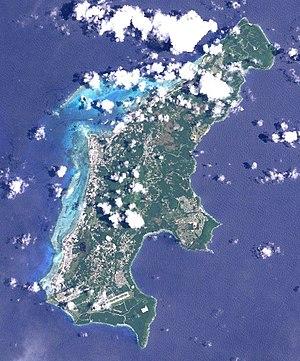 NASA satellite image of Saipan