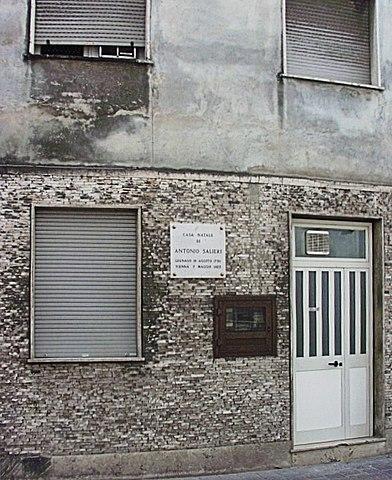 Дом, в котором родился Антонио Сальери, в Леньяго (Верона)