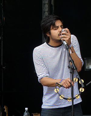 Young the Giant - Sameer Gadhia performing at Sasquatch 2011