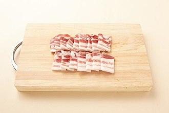 Pork belly - Uncooked pork belly