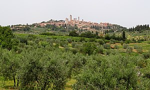 San Gimignano - View of the town from the south