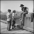 "San Joaquin Valley, California. Contract Labor. A couple of the ""li'l fellers"" from the families living in the labor... - NARA - 532163.tif"