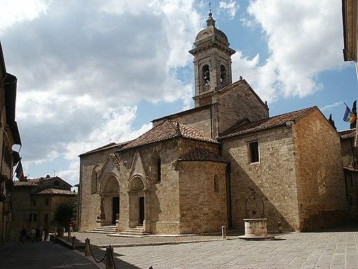 De Collegiata kerk in San Quirico d'Orcia