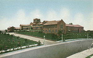 Santa Monica High School - Postcard photo c. 1919