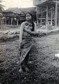 Sarawak; a native Kayan girl. Photograph. Wellcome V0037470.jpg