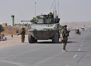Italian Army - ''Sassari'' Mechanized Brigade soldiers on patrol with VBM Freccia in Afghanistan