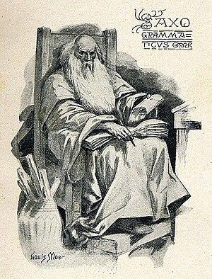 Saxo Grammaticus - Saxo, drawn by the Norwegian illustrator Louis Moe