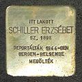 Schiller Erzsébet stolperstein (Budapest03 Pacsirtamező u 32).jpg