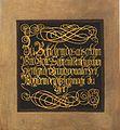 Schrifttafel Die Anbetung der Hirten 1834 Sophienkirche.jpg