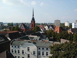 Schwedt Place in Brandenburg, Germany
