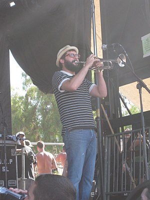 Scott Klopfenstein - Klopfenstein performing with Reel Big Fish on the 2010 Warped Tour