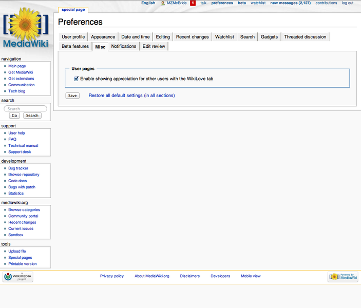 "File:Screenshot of ""Misc"" tab of Special-Preferences at mediawiki.org.png"
