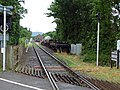 Sea Lane level crossing - view towards Dunster Station - geograph.org.uk - 1703850.jpg