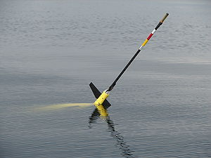 Underwater glider - University of Washington's Seaglider at the surface between dives