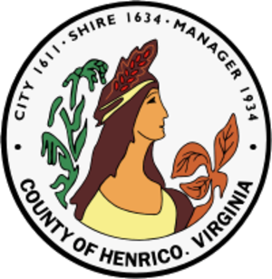 Henrico County, Virginia - Image: Seal of Henrico County, Virginia