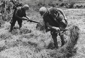 Operation Oklahoma Hills - Marines search for enemy supply caches during Operation Oklahoma Hills
