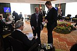 File:Secretary Kerry Speaks With Assistant Secretary Russell During APEC Meetings in Indonesia (10118048603).jpg