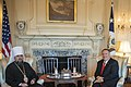 Secretary Pompeo Meets with Primate of the Orthodox Church of Ukraine Metropolitan Epiphaniy (48947865572).jpg