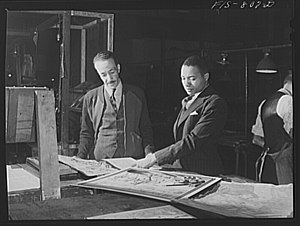 John H. Sengstacke - Sengstacke (right), 1942.