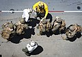 Senior Chief participates in an air assault exercise with Marines on the flight USS Bonhomme Richard. (29050652570).jpg