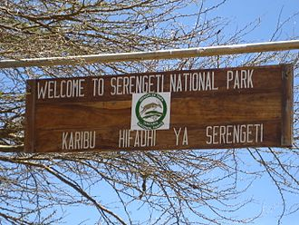 Mara Region - Serengeti-Sign