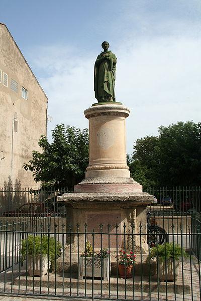 Sérignan (Hérault) - Statue (érigée en 1894) de Saint Guillaume Courtet (1590-1637)