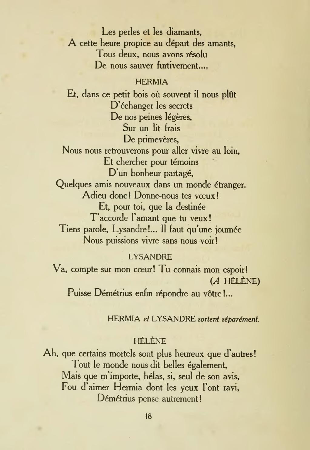 Pageshakespeare Un Songe De Nuit Dété Trad Spaak 1919