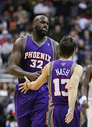 Steve Nash - Nash with then-teammate Shaquille O'Neal