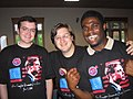 Shawn Healy, John Alex Golden, and Tavarris Spinks at the convention (191765795).jpg