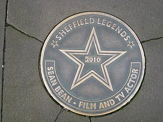 Sean Bean - Sheffield Legends plaque in Bean's home city of Sheffield, England